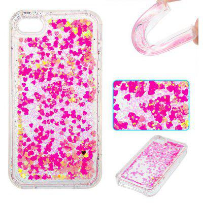 Full Powder Small Love All Soft Tpu Quicksand Phone Case for Iphone 4 4S