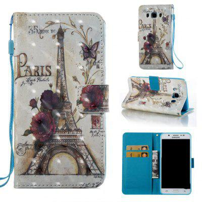 35 Towers 3D Painted Pu Phone Case for Samsung Galaxy J5 2016