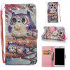 Purple Owl 3D Painted Pu Phone Case for Samsung Galaxy J5 2016 - COLORMIX