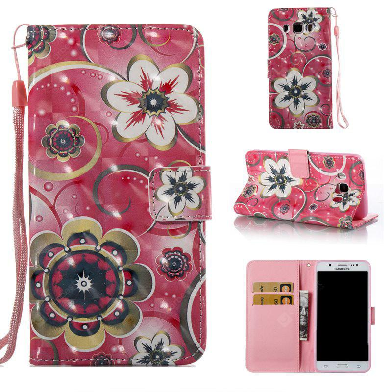 Tulip Flower 3D Painted Pu Phone Case for Samsung Galaxy J5 2016