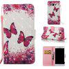Rose Butterfly 3D Painted Pu Phone Case for Samsung Galaxy J5 2016 - COLORMIX