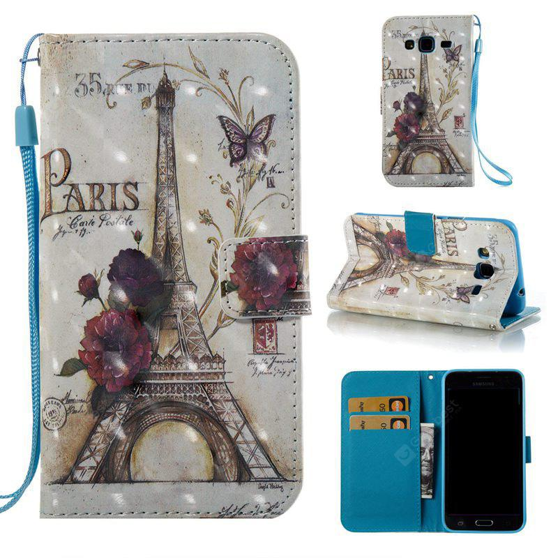 35 Towers 3D Painted Pu Phone Case for Samsung Galaxy J3 J3 2016
