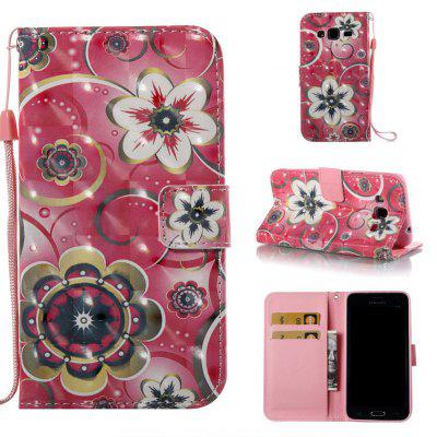Tulip Flower 3D Painted Pu Phone Case for Samsung Galaxy J3 J3 2016