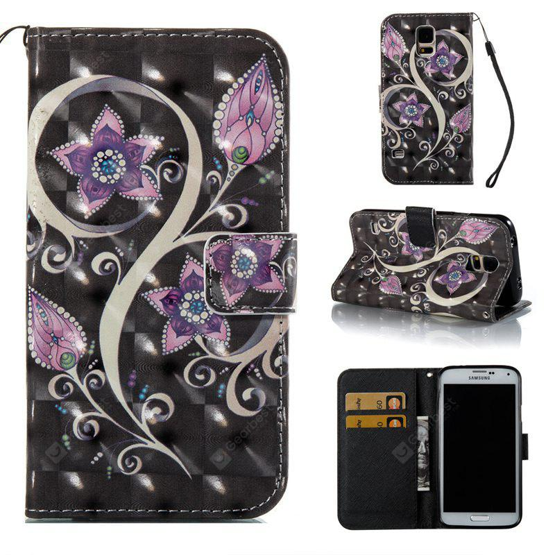 Peacock Flower 3D Painted Pu Phone Case for Samsung Galaxy S5