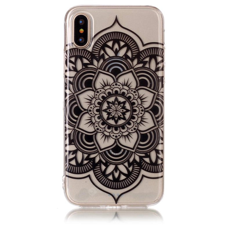 Pu Material Mandala Pattern Hd Phone Case for Iphone x