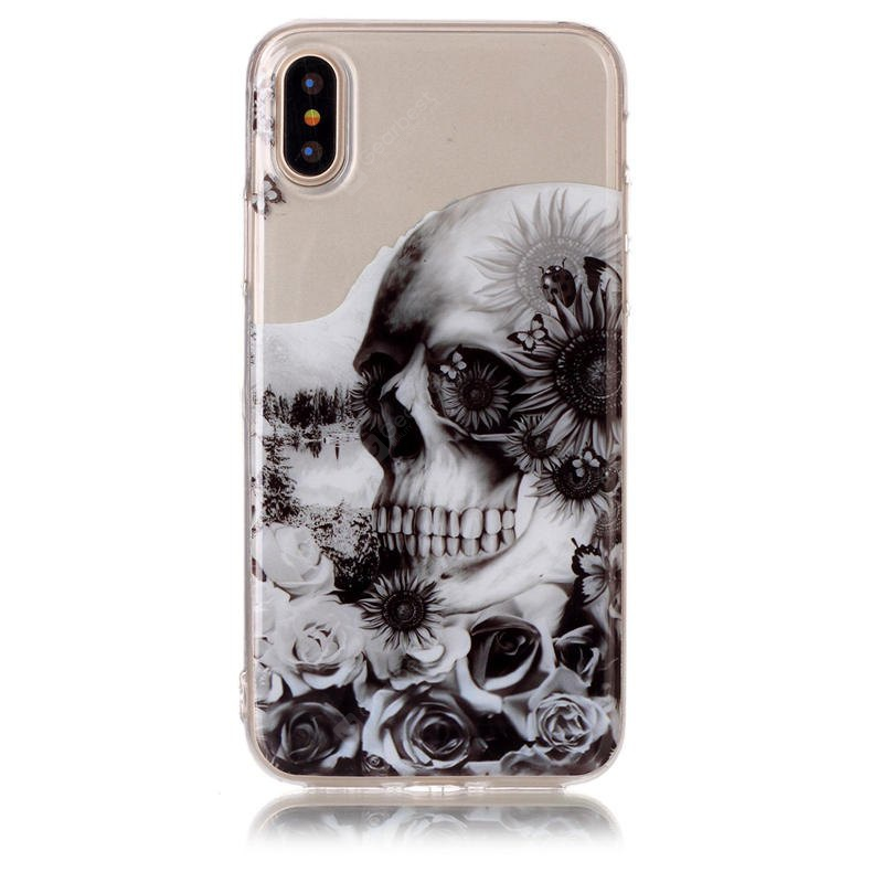 Tpu Material Skeleton Pattern Hd Phone Case for Iphone x