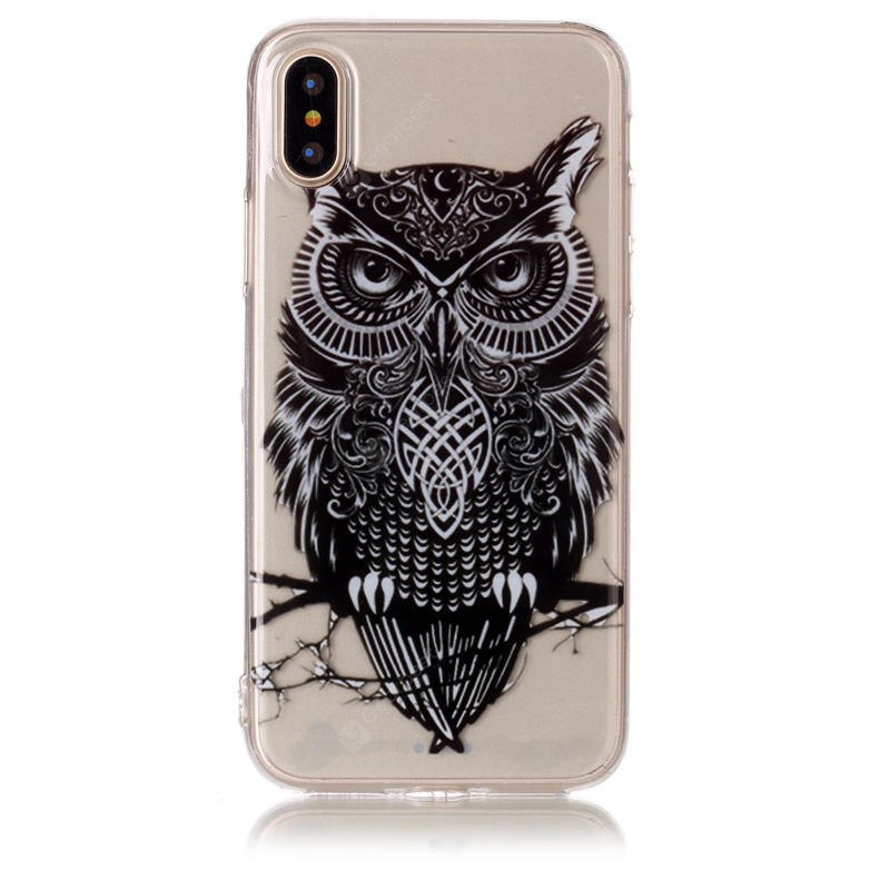 Tpu Material Owl Pattern Hd Phone Case for Iphone x