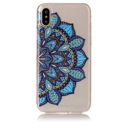 Tpu Material Half Flowers Pattern Hd Phone Case for Iphone x