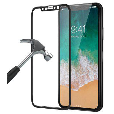 [3d Full Coverage] [9h twardość] [Ultra Thin] [Hd Clear] Szkło hartowane Screen Protector bezzapachowa folia ochronna na zarysowania do Apple Iphone x - Black