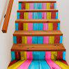 Buy Colorful Wooden Style Stair Sticker Wall Decor MIXED COLOR