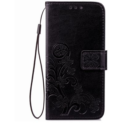 Yc Lucky Clover Holster Leaf Card Lanyard Pu Leather for Red Mi Note 3