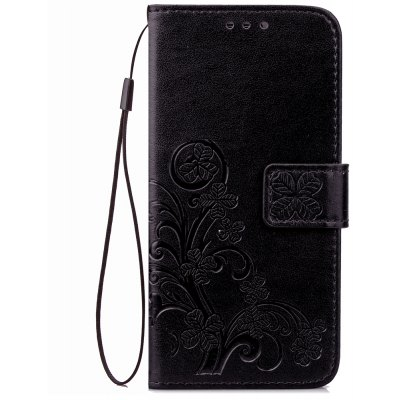 Yc Lucky Trèfle Holster Leaf Card Lanyard Pu Cuir Pour Xiaomi 5C