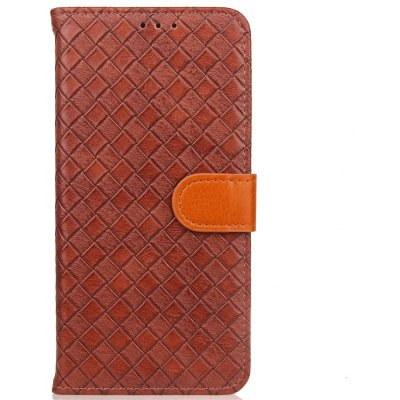 Yc Knit Lines Three Card Lanyard Pu Leather pour Samsung S8 Plus