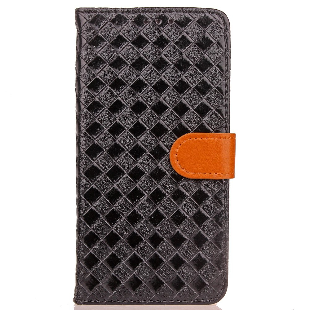 Yc Knit Lines Double Card Lanyard Pu Leather pour Samsung S8