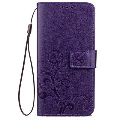 Yc Lucky Clover Holster Leaf Card Lanyard Pu Leather for Samsung A3