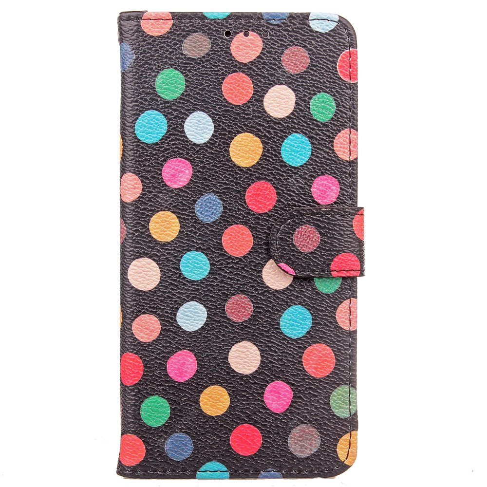 Yc Seven Color Wave Point Double Card Lanyard Pu Leather pour Samsung S8
