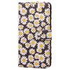 Yc Chrysanthemum Painting Double Card Lanyard Pu Leather pour Samsung S8 - NOIR
