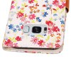 Yc Small Floral Paint Double Card Lanyard Pu Leather pour Samsung S8 - BLANC