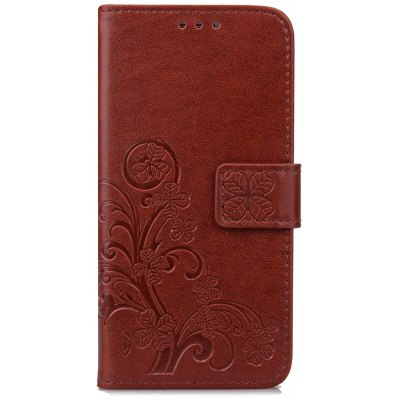 Yc Lucky Clover Holster Leaf Card Lanyard Pu Leather pour Samsung A7