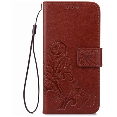 Yc Lucky Clover Holster Leaf Card Lanyard Pu Leather pour Samsung A310