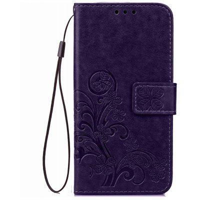 Yc Lucky Clover Holster Leaf Card Lanyard Pu Leather for Samsung A310