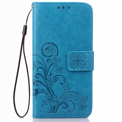 Yc Lucky Clover Holster Leaf Card Lanyard Pu Leather para Samsung G360
