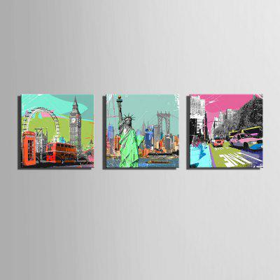 Dyy Frameless Paintings Famous Buildings of 3Prints<br>Dyy Frameless Paintings Famous Buildings of 3<br><br>Craft: Print<br>Form: Three Panels<br>Material: Canvas<br>Package Contents: 3 x Print<br>Package size (L x W x H): 45.00 x 45.00 x 5.00 cm / 17.72 x 17.72 x 1.97 inches<br>Package weight: 1.2000 kg<br>Painting: Include Inner Frame<br>Product size (L x W x H): 40.00 x 40.00 x 1.50 cm / 15.75 x 15.75 x 0.59 inches<br>Product weight: 1.1000 kg<br>Shape: Horizontal Panoramic<br>Style: Fashion, Vintage, Novelty, Casual<br>Subjects: Architecture<br>Suitable Space: Indoor,Garden,Living Room,Bathroom,Bedroom,Dining Room,Office,Hotel,Cafes,Kids Room,Kids Room,Study Room / Office,Boys Room,Girls Room,Game Room