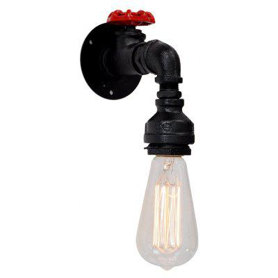Buy BLACK Brightness Retro Industrial Water Pipe Wall Light for Restaurant Cafe Bars AC 220 240V for $36.84 in GearBest store