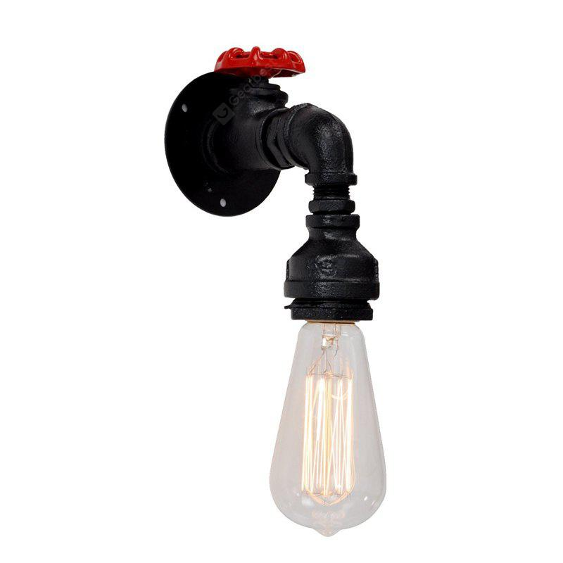 BLACK Brightness Retro Industrial Water Pipe Wall Light for Restaurant Cafe Bars AC 220 240V