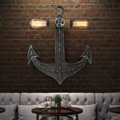Brightness Wood Boat Anchor Shape Vintage Wall Light for Decor 110 - 120VWall Lights<br>Brightness Wood Boat Anchor Shape Vintage Wall Light for Decor 110 - 120V<br><br>Bulb Base: E26,E27<br>Bulb Included: No<br>Finish: Painting<br>Fixture Material: Hemp Rope,Wood / Bamboo<br>Number of Bulbs: 2<br>Package Contents: 1 x Light, 1 x Assembly Part<br>Package size (L x W x H): 60.00 x 46.00 x 11.00 cm / 23.62 x 18.11 x 4.33 inches<br>Package weight: 2.3000 kg<br>Power Supply: AC<br>Selling Point: Mini Style<br>Style: Vintage antique, Vintage, Rustic Lodge, Novelty, Antique<br>Suggested Room Size: 5 - 10 Square Meters<br>Type: Wall Sconces<br>Voltage: 110 - 120V<br>Wattage: 60W<br>Wattage per Bulb ( W ): 60