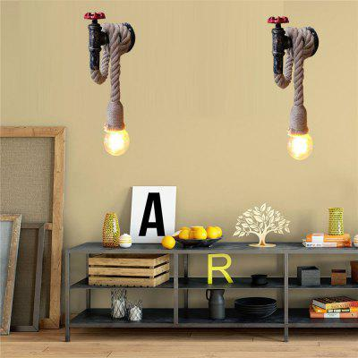 Buy CLEMENTINE Brightness Water Pipe Wall Lights Rope Retro Industrial Style for Restaurant Cafe Bar Wall 110 120V for $44.55 in GearBest store