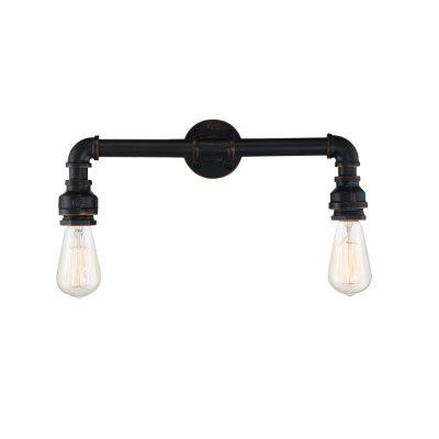 Brightness 2-branch Retro Industrial Water Pipe Wall Light for Decor 220 - 240Wall Lights<br>Brightness 2-branch Retro Industrial Water Pipe Wall Light for Decor 220 - 240<br><br>Bulb Base: E26,E27<br>Bulb Included: No<br>Finish: Painting<br>Fixture Material: Metal<br>Light Direction: Ambient Light<br>Number of Bulbs: 2<br>Package Contents: 1 x Light, 1 x Assembly Part<br>Package size (L x W x H): 40.00 x 17.00 x 12.00 cm / 15.75 x 6.69 x 4.72 inches<br>Package weight: 1.6000 kg<br>Power Supply: AC<br>Selling Point: Mini Style<br>Style: Vintage, Vintage antique, Rustic Lodge, Antique<br>Suggested Room Size: 5 - 10 Square Meters<br>Type: Wall Sconces<br>Voltage: 220V-240V<br>Wattage: 120W<br>Wattage per Bulb ( W ): 60