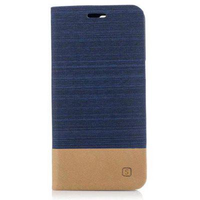 Wkae Mixed Colors Canvas Jeans Cloth Texture Pu Leather Soft Tpu Back Cover with Kickstand And Card Slots for Oneplus 5