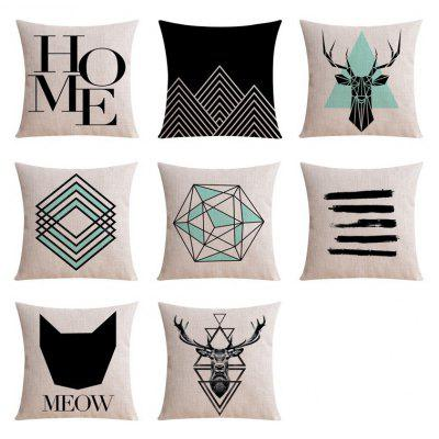 8PCS Good Quality Home Decoration Linen Cushion Covers