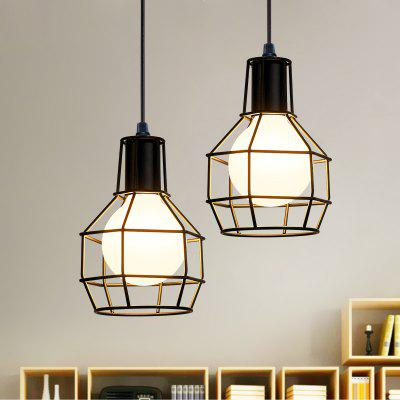 Buy BLACK Everflower Loft Industrial Pendant Lights American Country Lamps Vintage Lighting for Bedroom Model Dd-007 for $80.93 in GearBest store