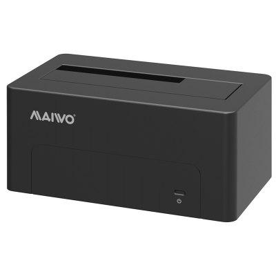 Maiwo K308c Usb Type C Usb3.1 (Usb-C) To Sata 2.5/3.5 Inch External Hard Drive Disk Docking Station Enclosure for for 3.5 2.5 Sata Hdd And Ssd [Support Up To 8TB] - Tool Free, 1 Bay Black