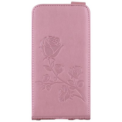 Embossed Rose Flower Pattern Vertical Flip Leather Case with Card Slot for Samsung Galaxy A3 2017 A320