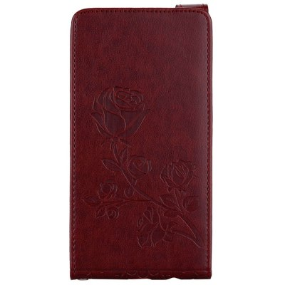 Embossed Rose Flower Pattern Vertical Flip Leather Case with Card Slot for Samsung Galaxy A5 2017 A520