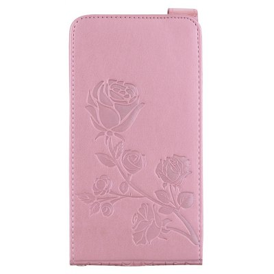 Embossed Rose Flower Pattern Vertical Flip Leather Case with Card Slot for Samsung Galaxy J3 2016 J310