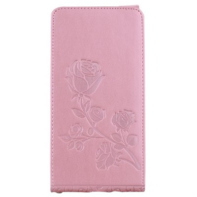 Embossed Rose Flower Pattern Vertical Flip Leather Case with Card Slot for Samsung Galaxy J5 2016 J510