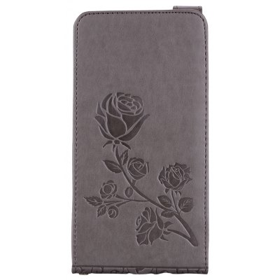 Embossed Rose Flower Pattern Vertical Flip Leather Case with Card Slot for Samsung Galaxy J7 2016 J710