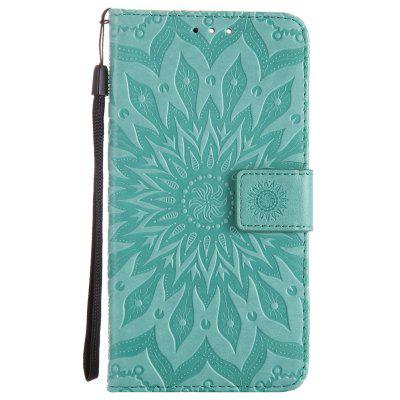 Buy GREEN Sun Flower Printing Design Pu Leather Flip Wallet Lanyard Protective Case for Oneplus 5 for $5.08 in GearBest store