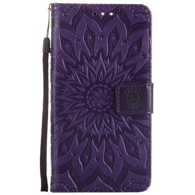 Buy PURPLE Sun Flower Printing Design Pu Leather Flip Wallet Lanyard Protective Case for Oneplus 5 for $5.08 in GearBest store