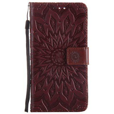 Buy BROWN Sun Flower Printing Design Pu Leather Flip Wallet Lanyard Protective Case for Oneplus 5 for $5.08 in GearBest store