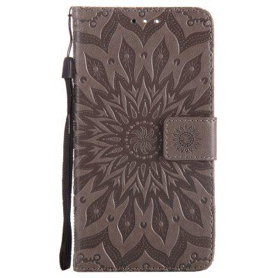 Buy GRAY Sun Flower Printing Design Pu Leather Flip Wallet Lanyard Protective Case for Oneplus 5 for $5.08 in GearBest store