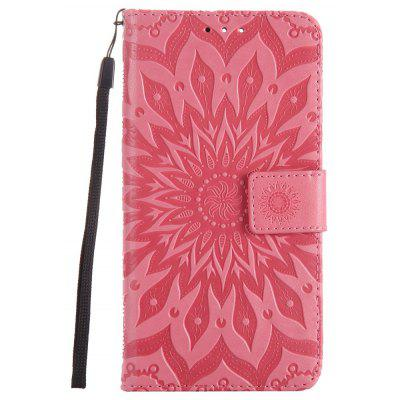 Buy PINK Sun Flower Printing Design Pu Leather Flip Wallet Lanyard Protective Case for Oneplus 5 for $5.08 in GearBest store