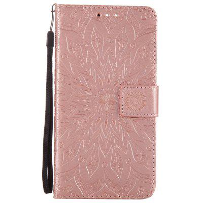 Buy ROSE GOLD Sun Flower Printing Design Pu Leather Flip Wallet Lanyard Protective Case for Oneplus 5 for $5.08 in GearBest store