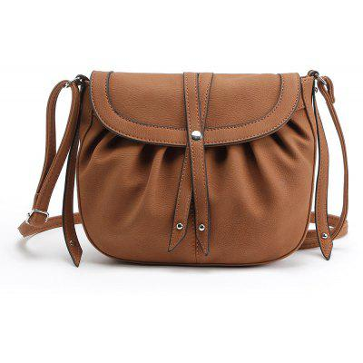 Buy BROWN 1PC Auhwone Women Small Crosbody Messenger Bags Pu Leather Saddle Bags Ladies Shoulder Bags Female Vintage Bag Bolsas Feminina for $18.90 in GearBest store