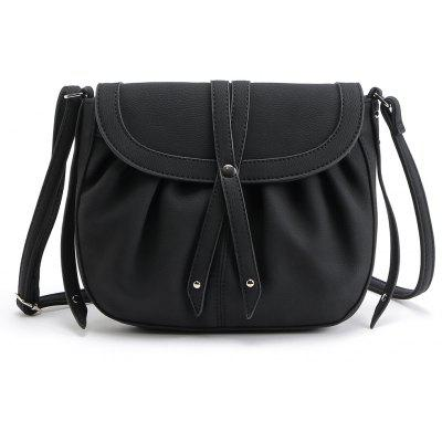 Buy BLACK 1PC Auhwone Women Small Crosbody Messenger Bags Pu Leather Saddle Bags Ladies Shoulder Bags Female Vintage Bag Bolsas Feminina for $19.23 in GearBest store