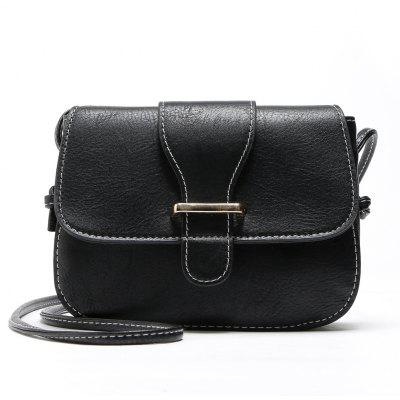 Solid Color Buckle Crossbody Bags